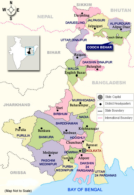 West bengal location information